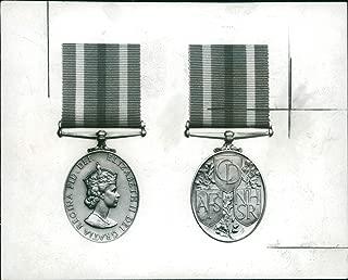 Vintage photo of New civil defense medal