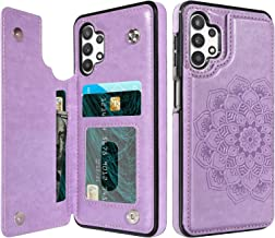 BENTOBEN Samsung Galaxy A32 5G Wallet Case, PU Leather Heavy Duty Rugged Shockproof Protective Cases with Card Slots Cash Holder Phone Case for Samsung Galaxy A32 5G 6.5 Inch 2021, Purple