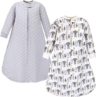 Hudson Baby Unisex Baby Premium Quilted Long Sleeve Sleeping Bag and Wearable Blanket