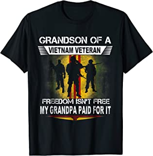 Proud Grandson Of A Vietnam Veteran Shirt Grandson Gift