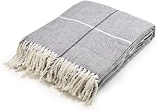 "Arus Highlands Collection Tartan Plaid Design Throw Blanket Gray 60"" X 80"""