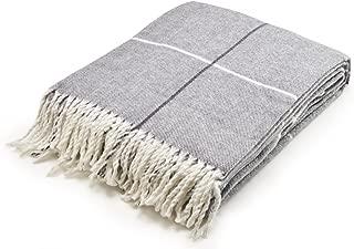 Arus Highlands Collection Tartan Plaid Design Throw Blanket Gray 60