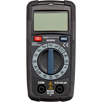 AmazonCommercial 2000 Count Pocket Compact Digital Multimeter, NCV, CATII 600V