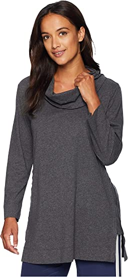 Classic Jersey Cowl Neck Tunic with Step Hem