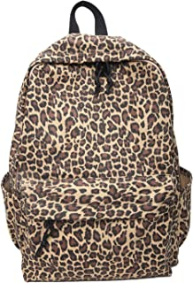 Teenagers Cute Leopard Printed Backpack Bookbag Nylon 14 Inch Laptop Bag Rucksack