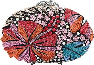 Fawziya Luxury Oval Shape Daisy Clutch Purse Box Crystal Clutch Evening Bag
