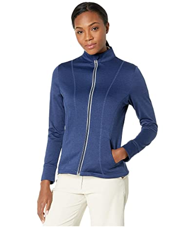 Callaway Waffle Fleece Heather Full Zip Jacket (Blueprint Heather) Women
