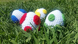 Crocheted Super Mario Yoshi Egg Plush / Great Cosplay Prop and Accessory