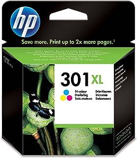 HP 301XL CH564EE, Tricolor, Cartucho de Tinta de Alta Capacidad Original, Compatible con impresoras de inyección de tinta ...