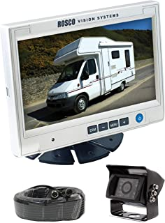 Rearview Backup Camera System Complete with 7-inch Color Monitor, Weather Proof Camera, 65-ft Harness.