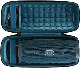 co2crea Hard Travel Case for JBL Charge 4 Waterproof Bluetooth Speaker (Ouside Black and Inside Blue)