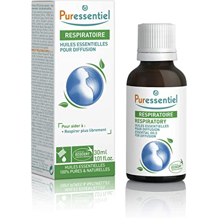 Puressentiel - Respiratoire - Huiles Essentielles pour Diffusion - Diffuse Respi - 100% pures et naturelles - Aide à respirer librement - 30 ml