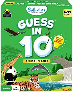 Skillmatics Guess in 10 Animal Planet - Card Game of Smart Questions for Kids & Families | Super Fun & General Knowledge for Family Game Night | Gifts for Kids (Ages 6-99)