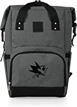PICNIC TIME Cooler NHL San Jose Sharks OTG Roll Top Backpack, Heathered Gray, One size