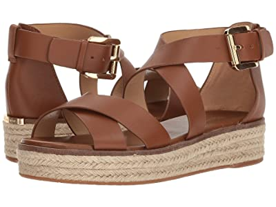 MICHAEL Michael Kors Darby Sandal (Luggage Vachetta 1) Women