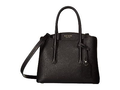 Kate Spade New York Margaux Medium Satchel (Black) Satchel Handbags