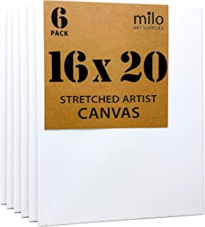 Pre-Stretched Artist Canvas 8-Piece Professional Quality Primed Large Size Kit