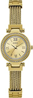 GUESS - W1009L2 - WATCH FOR LADIES GOLD WITH CRYSTAL STAINLESS STEEL - ADJUSTBALE W-LINK