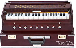 Maharaja Musicals، Instrument Harmonium Folding، In USA، 9 Stops، Rosewood Color، Safri، 3 1/2 Octave، Coupler، Book، Bag، Tuned To A440، Musical Instrument Indian (PDI - 186)