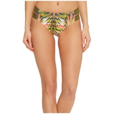 Jantzen Abstract Palm Leaf Strappy Side Retro Bikini Bottom (Multi) Women