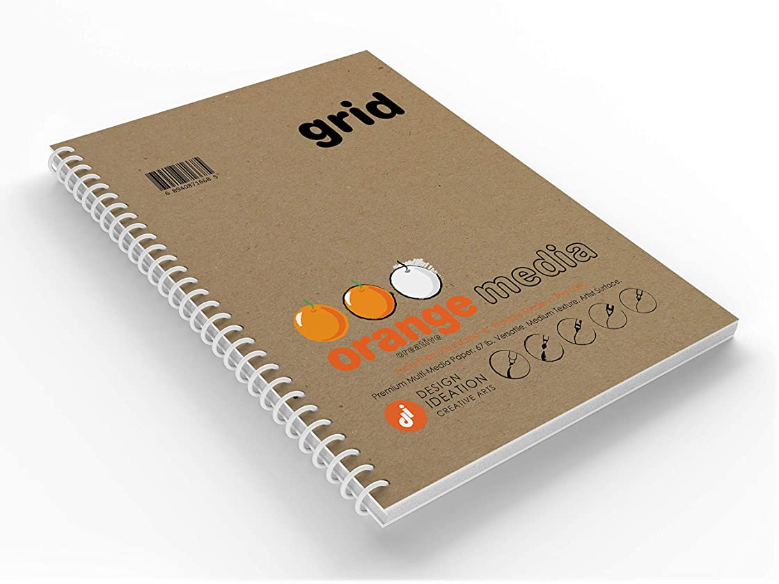 GRID : Premium Multi-Media Grid Paper Creative Project Book for Pencil, Ink, Marker, Charcoal and Watercolor Paints. Great for Art, Design and Education. (8.5