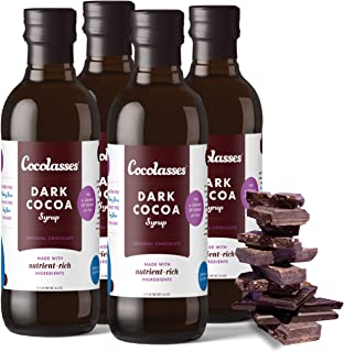 Cocolasses Dark Chocolate Syrup | Made with Real Cocoa and Blackstrap Molasses | Gluten Soy Peanut and Dairy Free | No Hig...