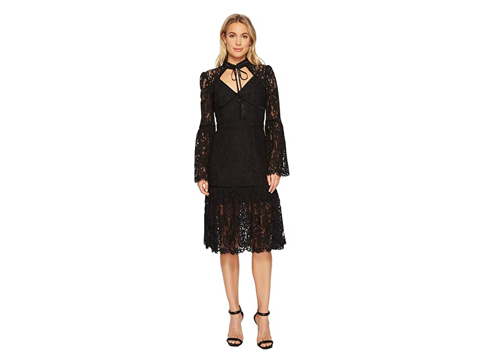 Adelyn Rae Gina Midi Dress (Black) Women