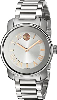 Movado Women's 3600244 Bold Analog Display Swiss Quartz Silver-Tone Watch