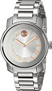 Movado Women's 3600244 Bold Analog Display Swiss Quartz Silver-Tone Watch