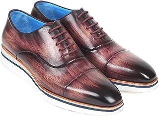 Paul Parkman Men's Smart Casual Oxfords Purple Leather (ID#185-PRP-LTH)