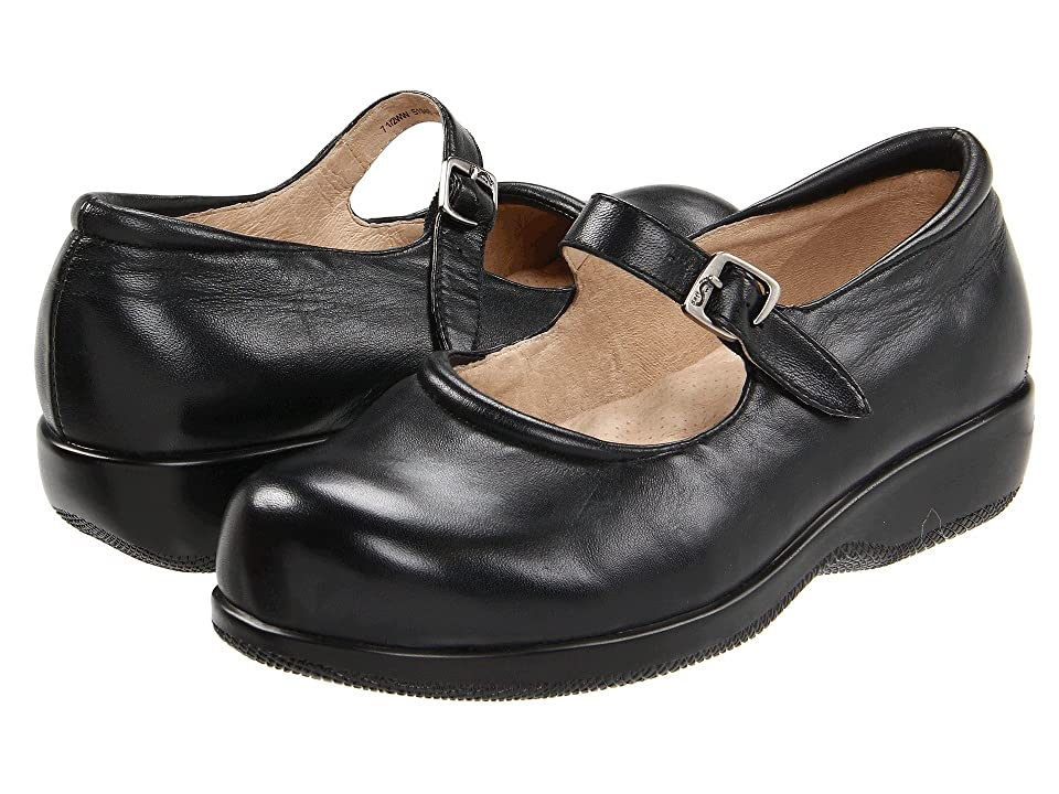 Retro Vintage Flats and Low Heel Shoes SoftWalk Jupiter Black Soft Kid Womens Shoes $109.95 AT vintagedancer.com