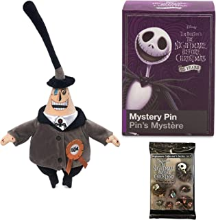Soft Plush Mayor NBX Nightmare Before Christmas Two Face Soft Pack Collectible Bundled with Trading Cards & Blind Box Collectible Character Pin Item Set