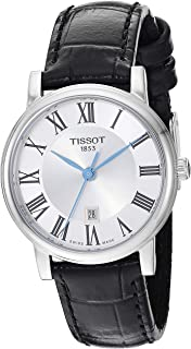 Tissot womens Carson Stainless Steel Dress Watch Black T1222101603300