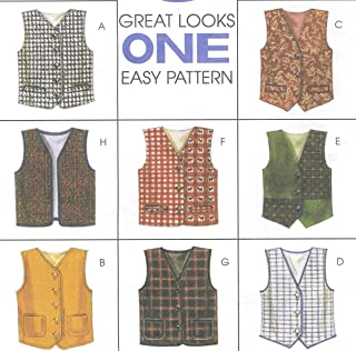 McCall's Pattern 8337 Boys' and Girls' Lined Vests, Size XS-S (2-6)