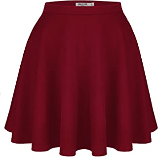Womens Versatile Stretchy Flared Casual Skater Skirt - Made in USA