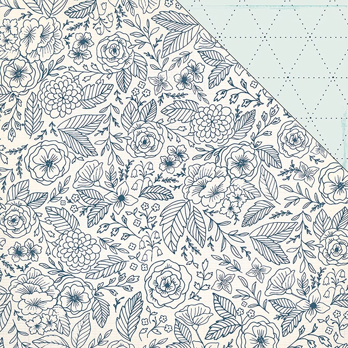 American Crafts 25 Sheets Stitching Craft Market Double-Sided Cardstock, 12 x 12