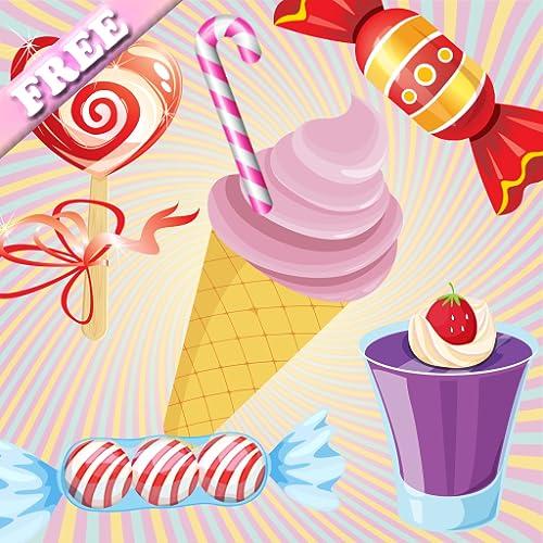 Candy Doces e bolo Jogos de Memória para crianças e miúdos ! gratuito