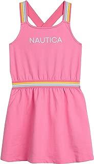 Nautica Girls' Patterned Sleeveless Dress
