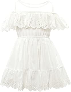 CIELARKO Girls Dress Summer Mesh Sleeveless Children Dresses
