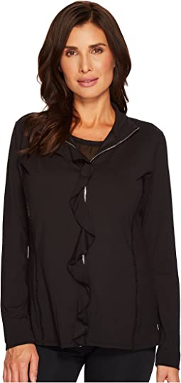 Ivanka Trump - Active Zip-Up Ruffle Jacket