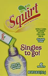 Squirt Drink Mix Singles To Go Mega Pack -- 12 Boxes (72 Packets Total)