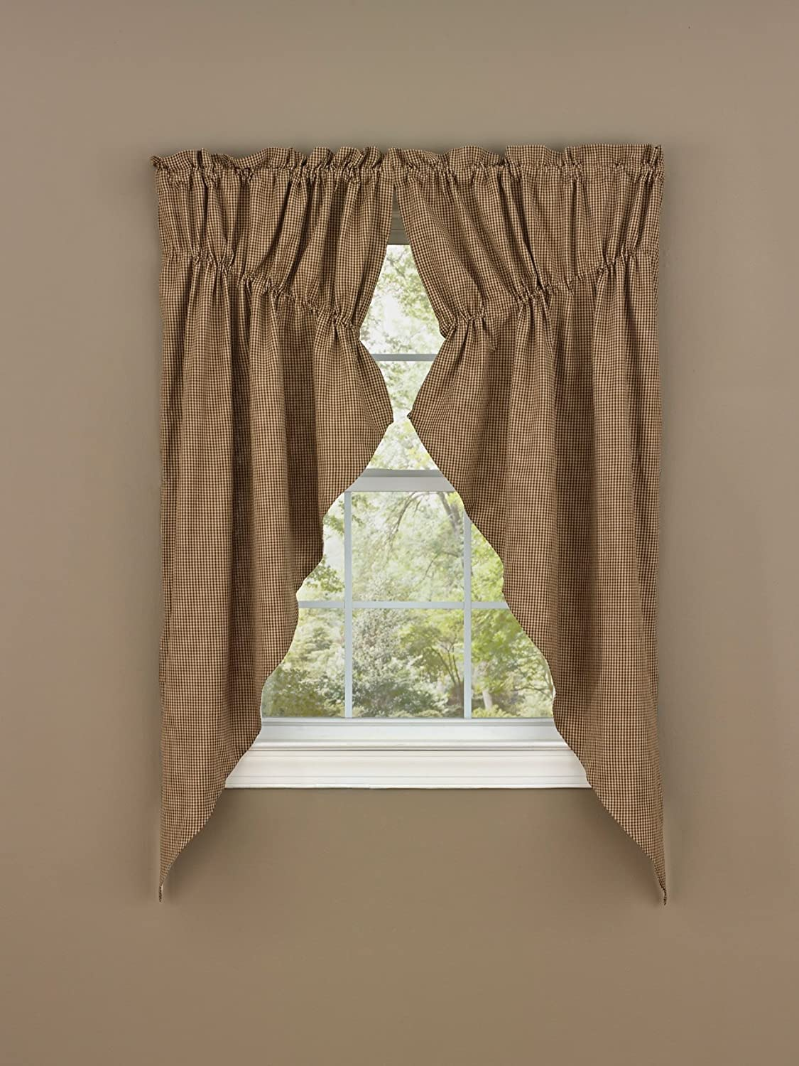 Park Designs Shade of Brown Lined Gathered Swag, 72 x 63