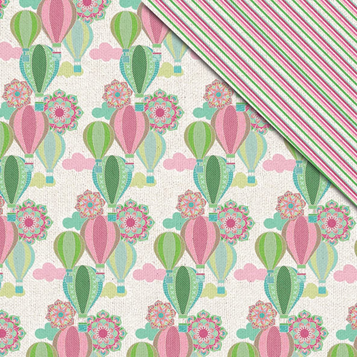 FabScraps C83 006 Kaleidoscope Double-Sided Cardstock (25 Sheets Per Pack), 12