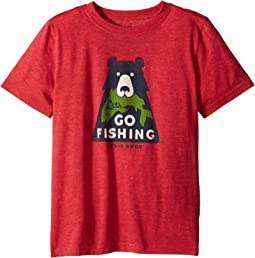 Life is Good Kids - Let's Go Fishing Cool Tee (Little Kids/Big Kids)