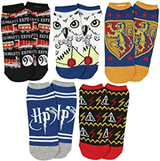 The Wizarding World of Harry Potter No-Show Ankle Socks 5 Pack