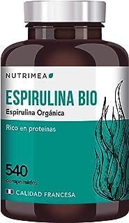 Espirulina Ecológica Suministro 6 Meses Complemento Alimenticio 540 Comprimidos 500mg Espirulina 100% BIO Vegano Ideal Deporte Musculación Detox Proteina Antioxidante Rico en Vitaminas y Minerales