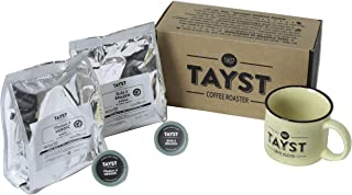 Tayst Bold Coffee Gift Box Set | 20 K-Cups of Bold coffees and a Tayst mug | $30 coffee gift box for Holiday, Snack, Business and Family