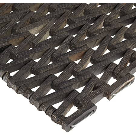 """Durable Corporation-108H2436 Durite Recycled Tire-Link Outdoor Entrance Mat, Herringbone Weave, 24"""" x 36"""", Black"""