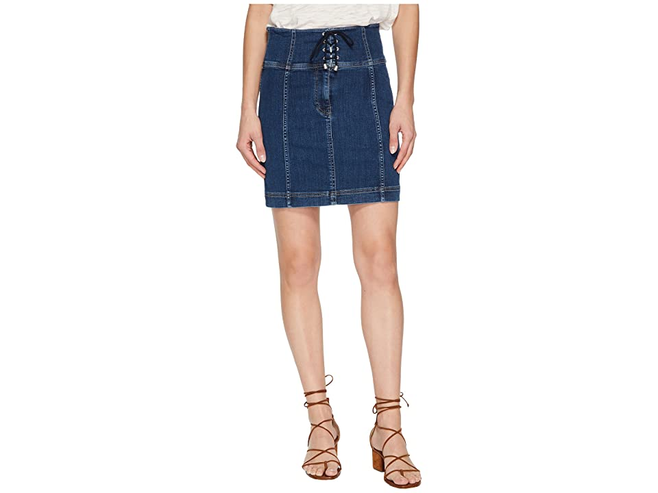 Free People Modern Femme Corset Skirt (Blue) Women