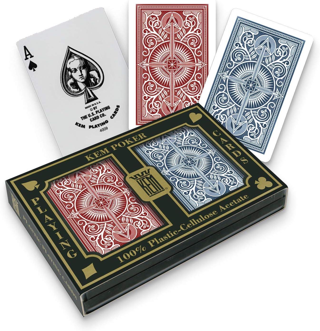 4 sets Max 65% OFF KEM Sale price Arrow Red and Blue Bridge Standard Playi Size- Index